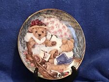 Numbered Ltd. Edition Teddy Bear Romance Plate by Franklin Mint Heirloom Plate