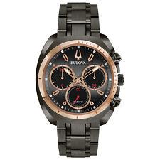 Bulova CURV Men's 98A158 Quartz Chronograph Grey Dial Bracelet 43mm Watch