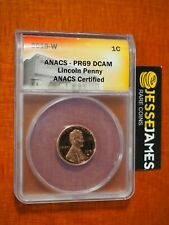 2019 W PROOF LINCOLN CENT ANACS PR69 DCAM