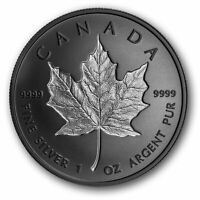 🇨🇦 Rare Canada $20 Coin 1 Oz Rhodium-Plated Incuse Silver Maple Leaf UNC 2020