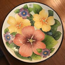 "2003 Blue Sky J.McCall 8"" Plate Flowers & Leaves Icing Textured Raised Edges"