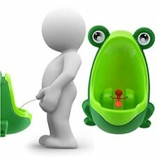 Frog Potty Pee Training Urinal Toilet with Whirling Target for Toddler Baby Boys