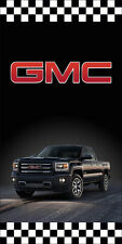 GMC AUTO DEALER VERTICAL AVENUE POLE BANNER SIGNS