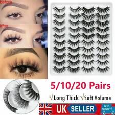 5/10/20 Pairs False Eyelashes Long Thick Natural Fake Eye Lashes Mink Makeup Set