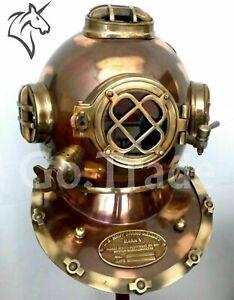 US Navy Vintage Dive Helmet Mark V Antique Diving Divers Helmet Gifts Halloween