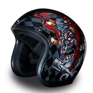 Joker Daytona 3/4 Cruiser Motorcycle Helmet FREE SHIP! Harley Style