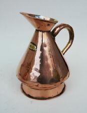 More details for nice antique copper one pint haystack measure jug