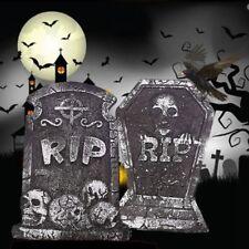 Halloween Tombstone Props Graveyard Spooky Skeleton Outdoor Decor Retro Nove #be