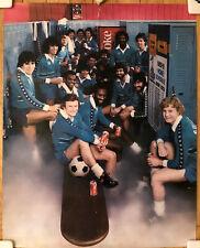 Vintage 1980 St Louis Steamers Poster COKE Coca Cola Locker Room MISL Soccer