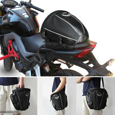Black Motorcycle Tail Bag Rear Seat Storage Case Shoulder Backpack Waterproof 1x