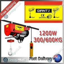 Single/Double Ropes Phase 15/7.5 Metre 1200W 300/600KG Electric Rope Hoist Winch