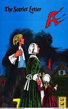 CLASSIC POSTER~The Scarlet Letter Original 1985 Vintage Cartoon Cover Book Print