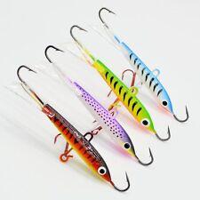 4pcs Lot Ice Fishing Lures Metal Bait Lead Jig Fish Jigs Hooks Tackle 8.3cm/18g