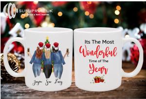 Three Person Best Friends/Sister Christmas Personalised Mug