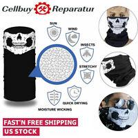 3 Pcs Multi-use Tube Scarf Bandana Head Face Mask Neck Gaiter Head Wear Black