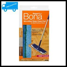 BONA Microfiber Wet Dry Mop Pad Washable Multi Surface Floor Dust Dirt Cleaner