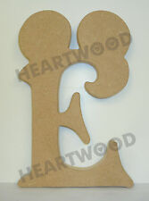 MICKEY MOUSE LETTERS IN MDF (232mm x 18mm thick)/WOODEN CRAFT SHAPE/BLANK