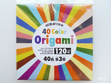 Daiso Japan ORIGAMI NEW, 40 Color, 120 Sheets, 150mm × 150mm