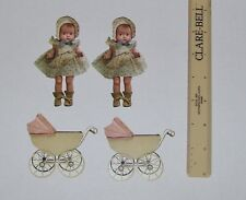 DOLLY AND BABY CARRAIGE DIE-CUTS LOT FOR SCRAPBOOKING CRAFTS NEW FROM PACKAGE