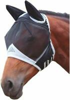 Shires Equestrian Fine Mesh Fly Mask with Ear Covers and UV Protection