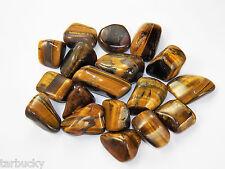 "1/2 lb  GOLD TIGER EYE  Large 1"" Bulk Tumbled Stone Metaphysical Healing 8 oz FS"