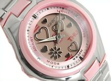 CASIO LCF10D-4A ANALOG DIGITAL WORLD TIME STAINLESS STEEL 5 ALARMS LADY'S WATCH
