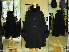 Black Cashmere Jacket With Fox Fur Trim Beautifully Canadian Label