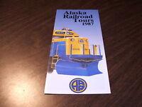1987 ALASKA RAILROAD TOURS BROCHURE
