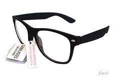 New Wayfarer Clear Lens Black Matte Frame UV 400 9399BCL