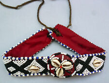 Rare African Authentic Beaded Cowrie Shells Headband/ Necklace Handmade Jewelry