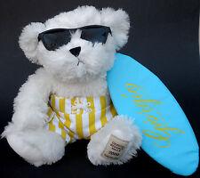 "Giorgio Beverly Hills Teddy Bear 10"" Plush 2008 Surfer Dude SurfBoard SunGlasses"
