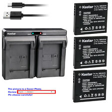 Kastar Battery Dual Charger for Panasonic DMW-BCK7 DE-A92 & Lumix DMC-FH4 Camera