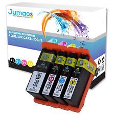 Lot de 4 cartouches d'impression type Jumao compatibles pour Lexmark S605