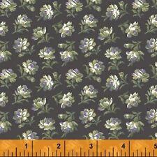 Primrose Companion Windham Floral Purple Dark Gray Fabric by Yards 100% Cotton
