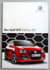 V16509 VOLKSWAGEN GOLF MK5 GTI EDITION 30 - CATALOGUE - 10/06 - A4 - D