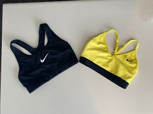 LOT 2 Nike Dri-Fit Racerback Active Sports Bra Small Active Athletic Fitted