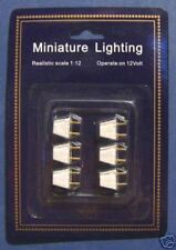 1/12 Dolls House Pack of 6 Male Two Pin Light Plugs for lighting sockets New LGW