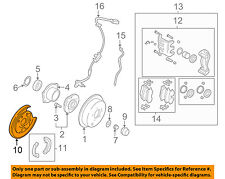 HYUNDAI OEM Santa Fe Rear Brake-Backing Plate Splash Dust Shield 5825226000