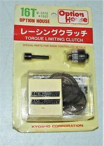 Kyosho W-5046 Option House TORQUE LIMITING CLUTCH New Sealed Hardware Kit 16T