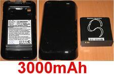 Cover Guscio Nera+Batteria 3000mAh tipo EB575152VU G7 per SAMSUNG GT-i9000