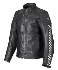 TRIUMPH CAFE RACER LEATHER MOTORCYCLE JACKET MENS XXX-LARGE WAS £325 NOW £165