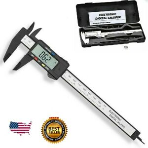 Digital LCD Caliper Vernier Micrometer Steel/Carbon Fiber Electronic Gauge Meter