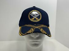 Buffalo Sabres NHL Reebok Center Ice Collection L/XL Fitted Cap Navy Blue, NEW!