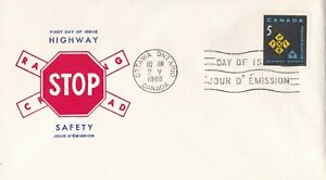 CANP045) FDC Canada 1966, Highway Safety, unaddressed