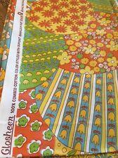 "Vintage Waverly Granny Quilt Glosheen Savalux Fabric 1.1 Yard 39"" X 43"" Yellow"