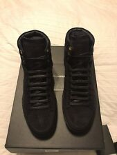 New Authentic YSL Saint Laurent Men Suede High Top Sneakers Shoes Navy 7 $690