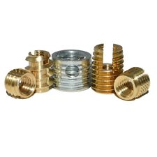 THREADED INSERTS FOR PLASTIC ALLOY AND WOOD SELF TAPPING INSERT NUTS BRASS