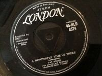 PAT BOONE . A WONDERFUL TIME UP THERE . / IT'S TOO SOON TO KNOW . LONDON TRI 7""