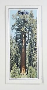1985 AAA Sequoia and Kings Canyon National Park map TOURISM San Joaquin Valley