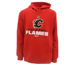 Calgary Flames Official NHL Reebok Kids & Youth Size Hooded Sweatshirt New Tags